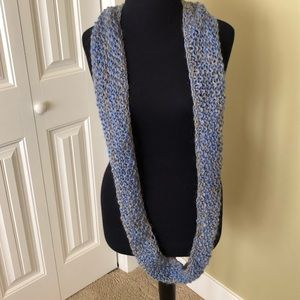Hand knit loopable infinity scarf